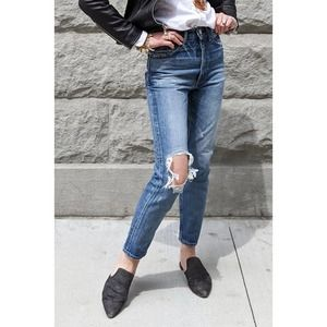 Moussy Vintage Marshall Boy Distressed Ankle Jeans